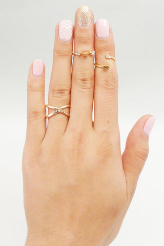 Spike Me Crystal Midi Ring