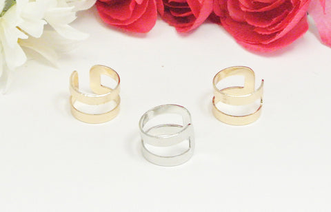 Doubling Up Ring - Silver