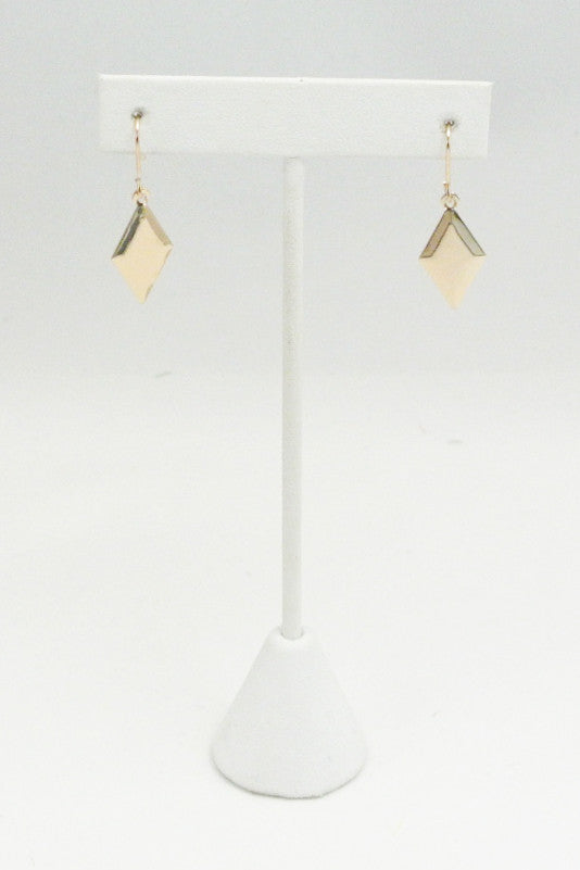 Paper Thin Gold Drop Earrings