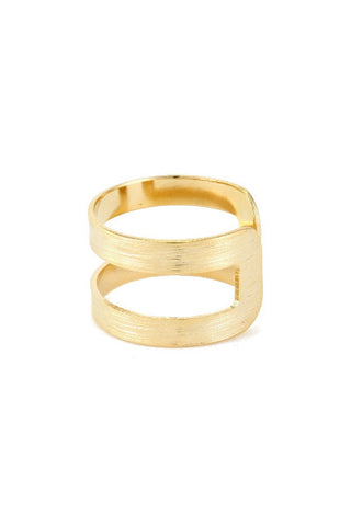Doubling Up Ring - Gold