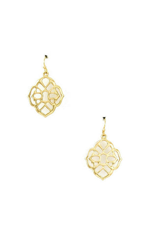 Golden Mosaic Drop Earrings