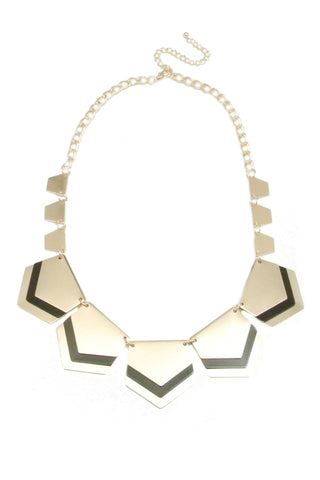 Cleopatra Chevron Necklace