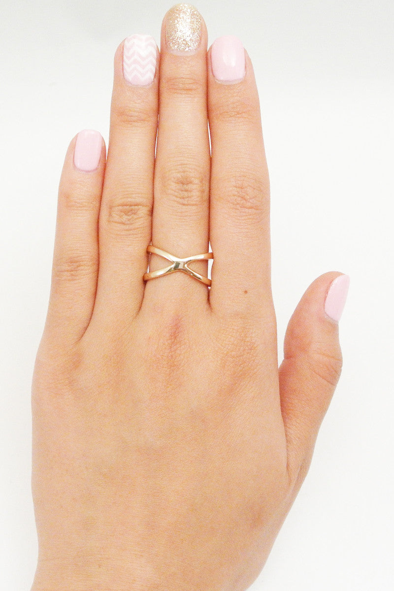 Criss Cross Infinity Ring