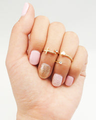 Cross and Crystal Midi Ring