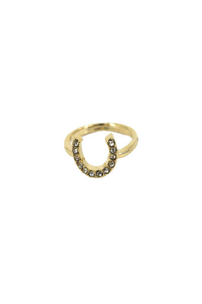 Lucky Horse Shoe Midi Ring