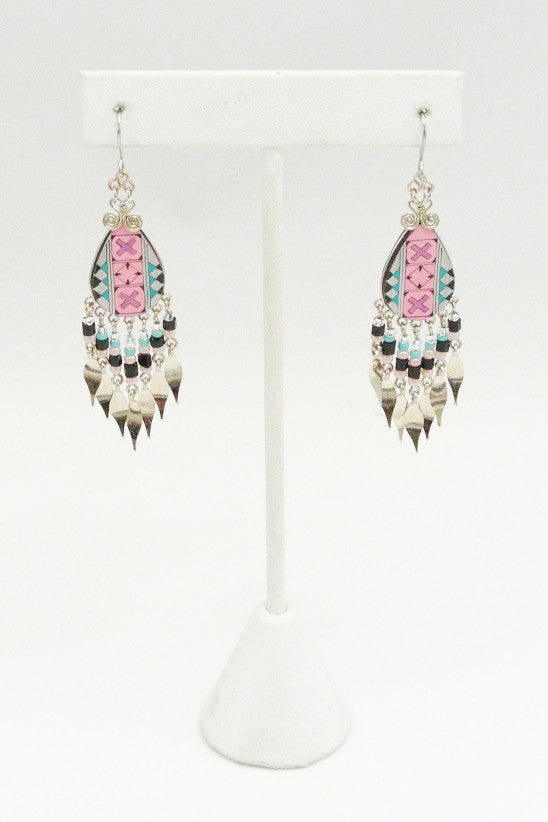 Desert Rose Beaded Earrings