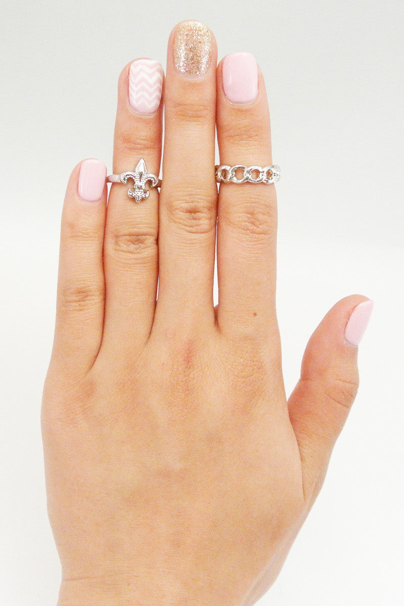 Heavy Link Midi Ring - Silver