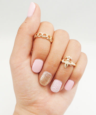Heavy Link Midi Ring - Gold