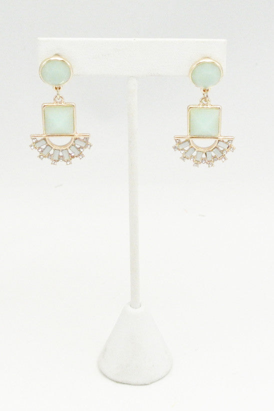 Minted Nile Drop Earrings