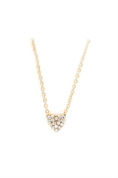 Chic Crystal Heart Necklace