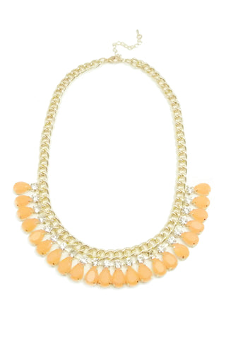 Orange Blossum Drop Necklace