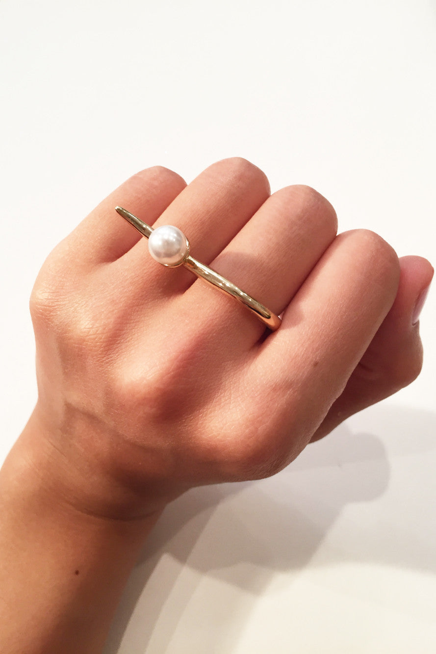 Double Take Pearl Ring