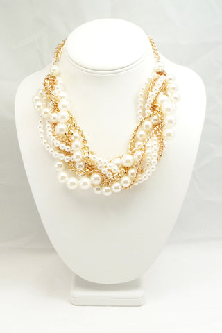 Braided Pearl Link Garland