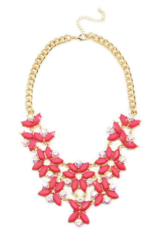 Magenta Cascada Necklace