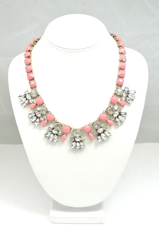 Rose Pastel Bib Necklace