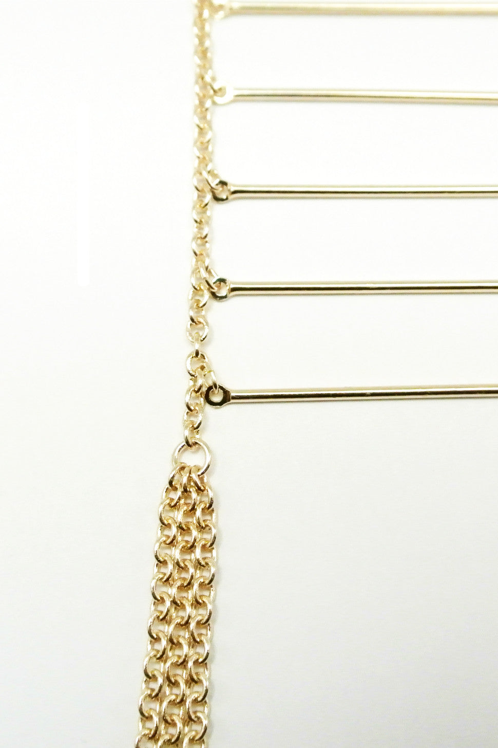 Eliza Ladder Fringe Necklace - Gold