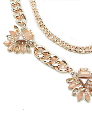 Rose Gold Chain Necklace Set