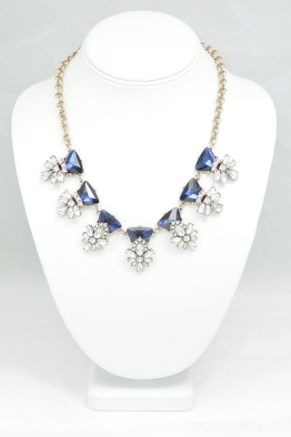 Serenity Sapphire Bloom Necklace