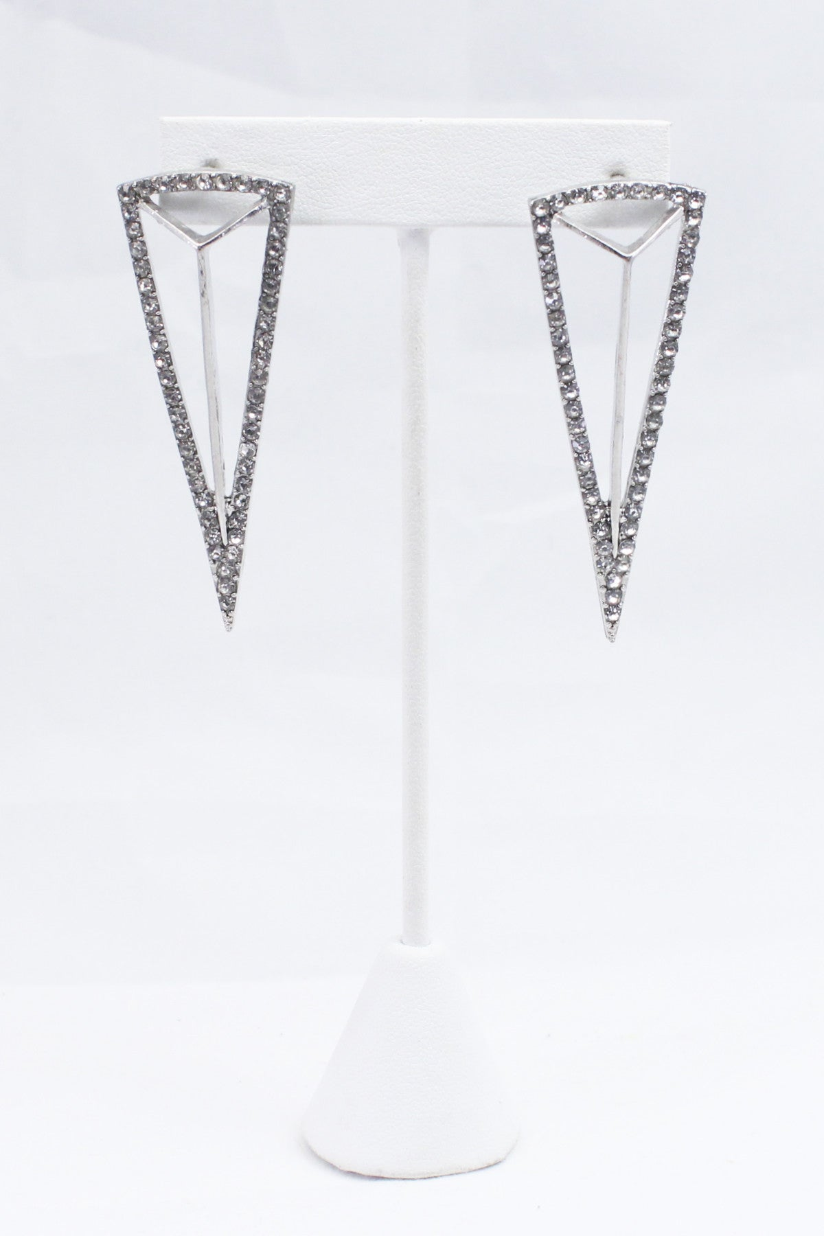 Platinum Arrowhead Earrings