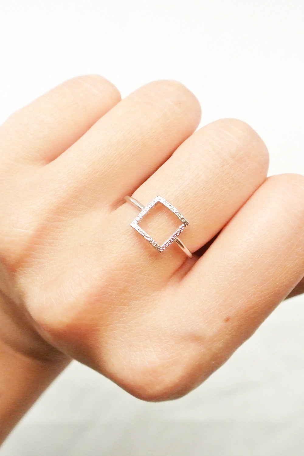 Rhonda Textured Square Ring