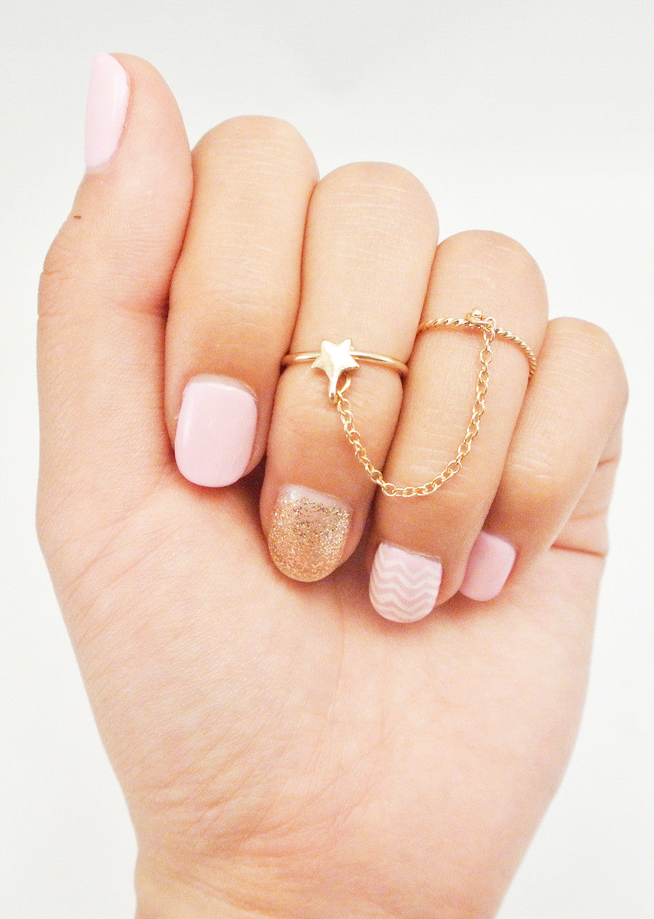 Chain Me Up Midi Ring - Star
