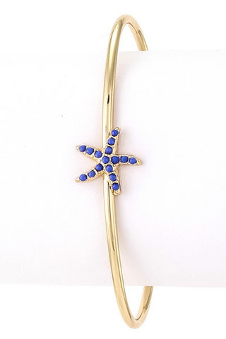Epoxy Starfish Bangle