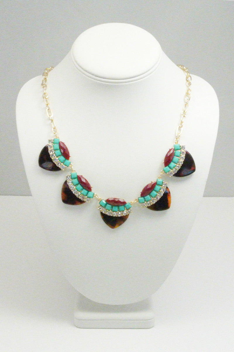 Tortoise Accent Necklace