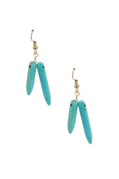 Turquoise Stone Earrings