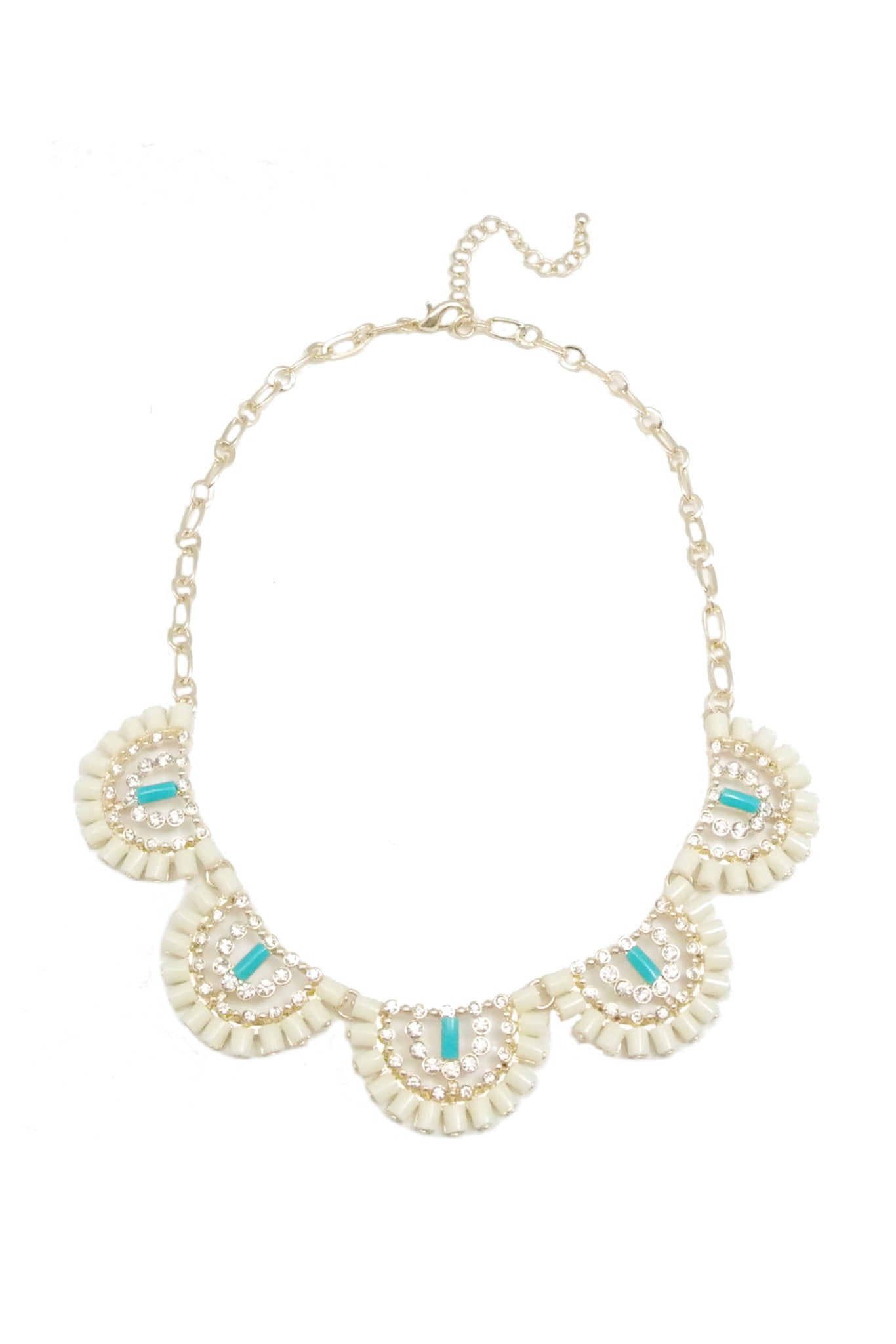 Crescent Bloom Necklace - Ivory