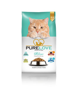 PureLove Meow Roast Chicken For All Cats 500G Human Grade Low in Gluten