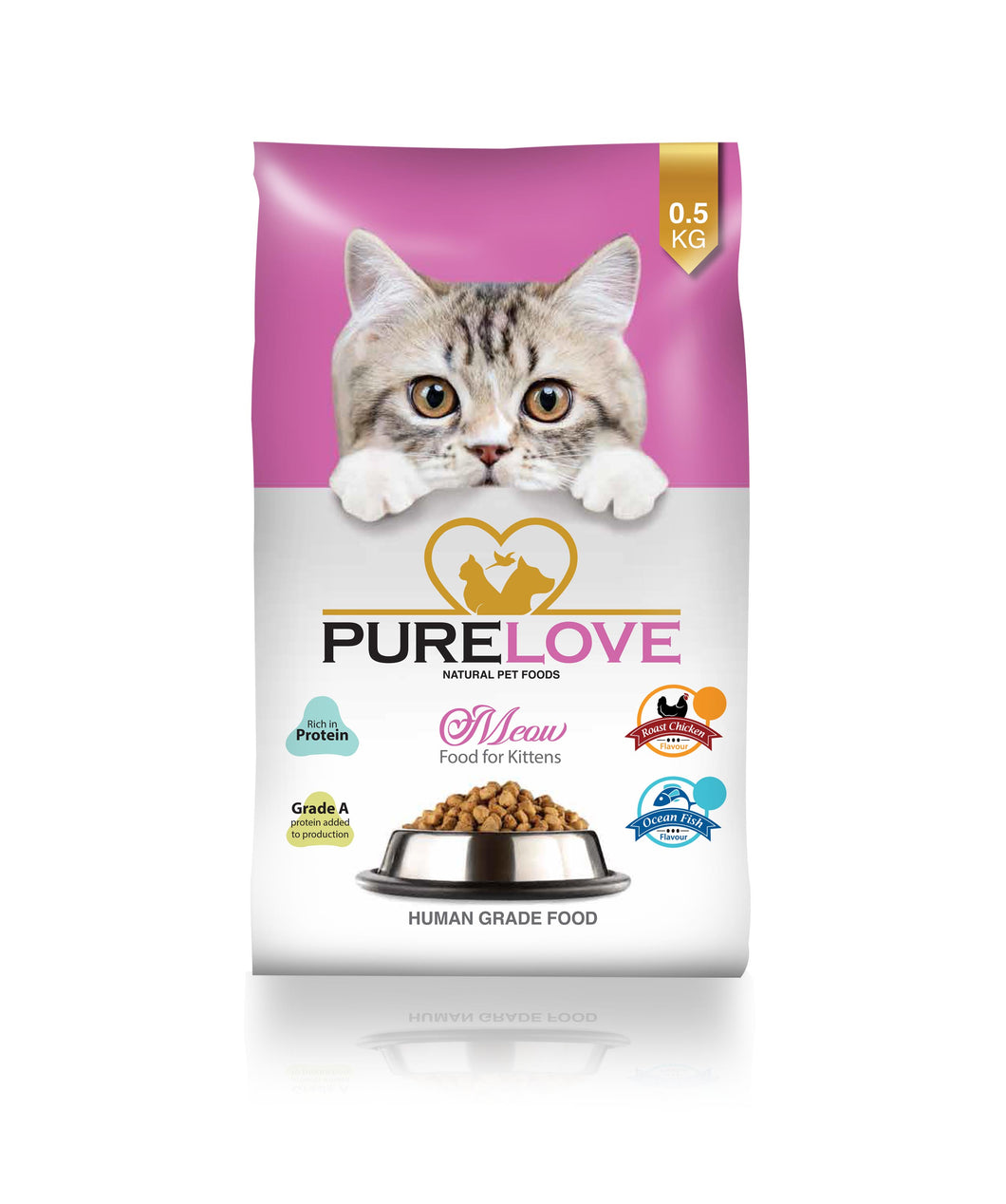 PureLove Meow Roast Chicken for Kitten 500G Human Grade Low in Gluten