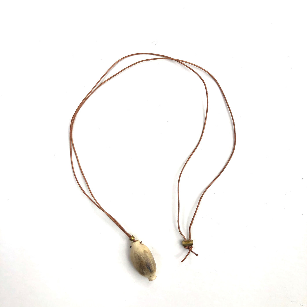 Antler Necklace, tan cord