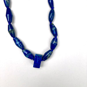 Lapis Bead Necklace, shapes