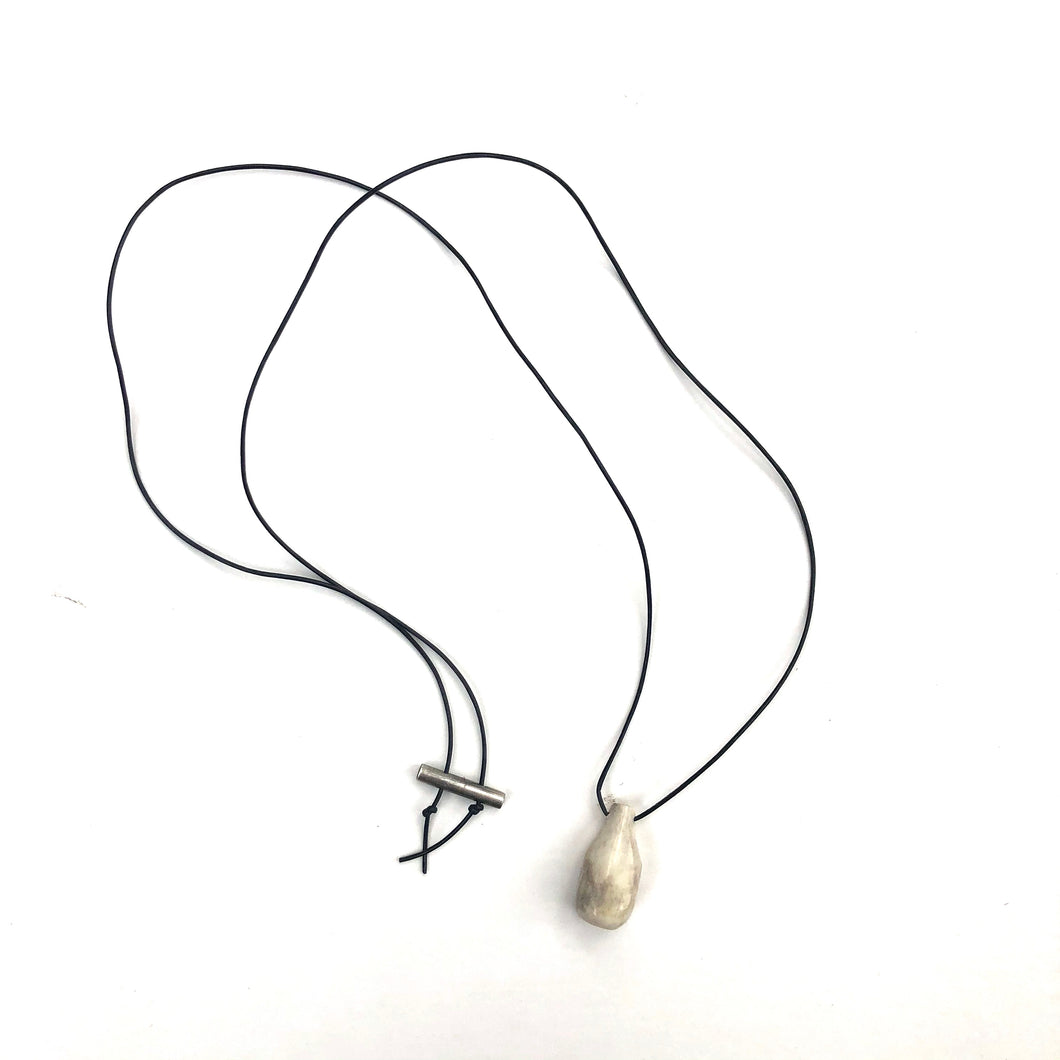 Antler Necklace, black cord
