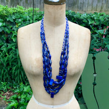 Load image into Gallery viewer, Lapis Bead Necklace, shapes