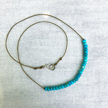 Load image into Gallery viewer, Faceted Turquoise Necklace
