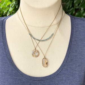 Abalone Swirl Necklace