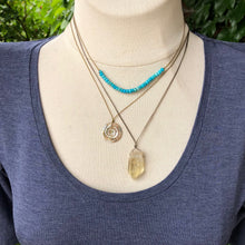 Load image into Gallery viewer, Abalone Swirl Necklace