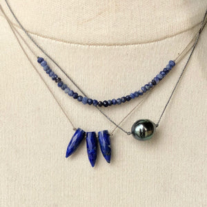 Lapis Bullet Necklace