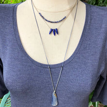 Load image into Gallery viewer, Lapis Bullet Necklace