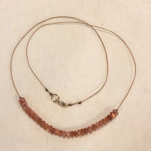 Load image into Gallery viewer, Faceted Sunstone Necklace
