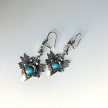 Load image into Gallery viewer, Heart and Bird in Hand Earrings