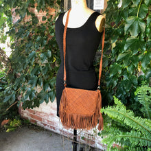 Load image into Gallery viewer, Woven Leather Fringe Bag ~ *SALE!*