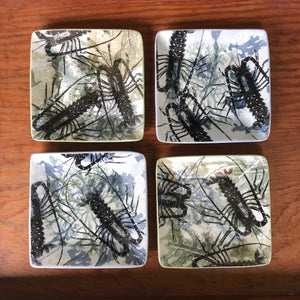 Set of Four Small Lobster Plates