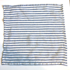 Blue and White striped napkins