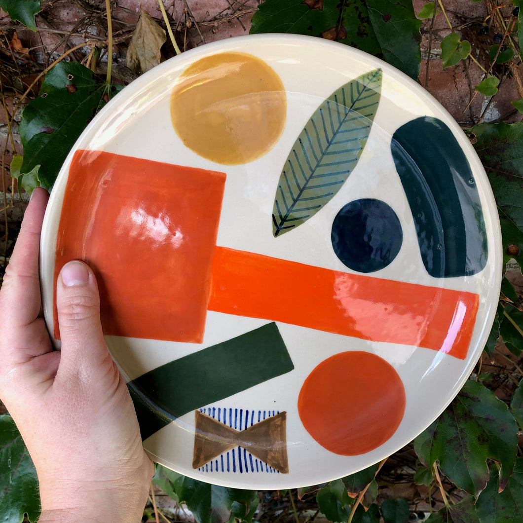 Colorful Shapes Serving Plates