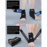 Adjustable Black Ankle Stabilizer Brace