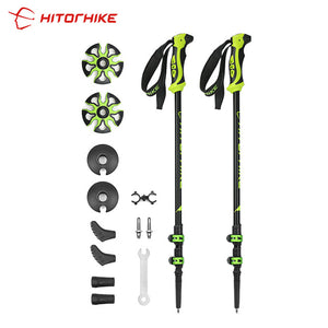 Hitorhike Pair/2pcs 7075 Trekking Poles Nordic Walking Poles 7075 Trekking Stick Alpenstock Walking Stick For Tourism