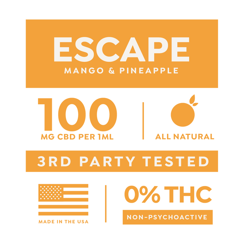 Escape 1000mg/10ml CBD Drops