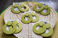 Clay Insights Summer Collection- Lyss Made This Lime & Statement Polymer Clay Earrings